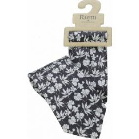Rietti Jeans & Silk Black/White Flower