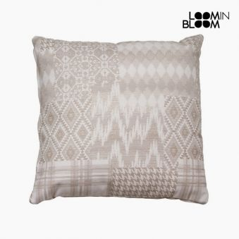 Carla patchwork cushion beige by Loom In Bloom