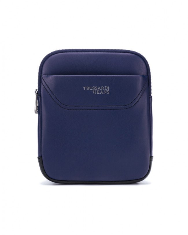Trussardi Jeans Business City Small Cross body bag Modrá