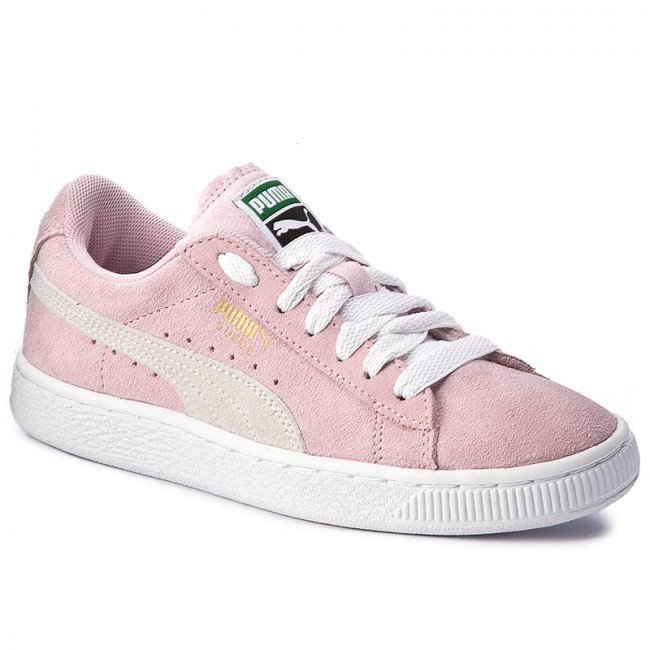 Sneakersy PUMA - Suede Jr 355110 30 Pink Lady/White/Team Gold