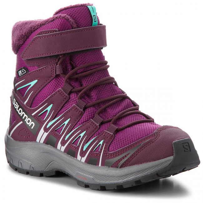 Snehule SALOMON - Xa Pro 3D Winter Ts Cswp J 406510  09 W0 Dark Purple/Potent Purple/Atlantis