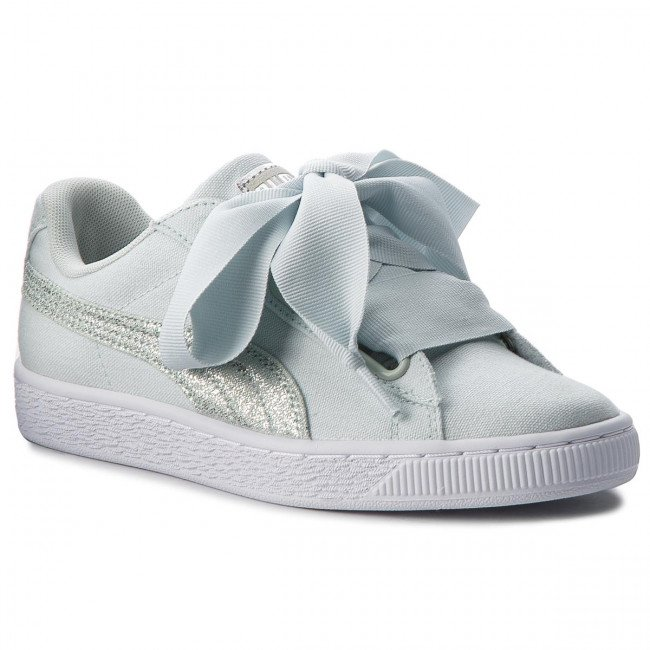 Sneakersy PUMA - Basket Heart Canvas 366495 03 Blue Flower/White/Silver