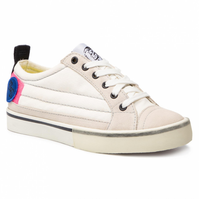 Tenisky DIESEL - D-Velows Low Patch W Y01922 P2283 H7102  Star White/Pink Fluo