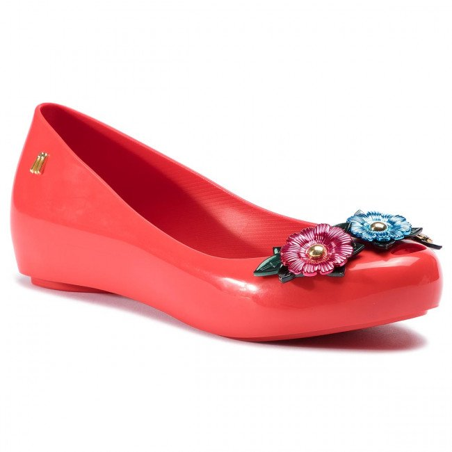 Baleríny MELISSA - Ultragirl Flower Chrom 32655 Red/Green/Blue 53469