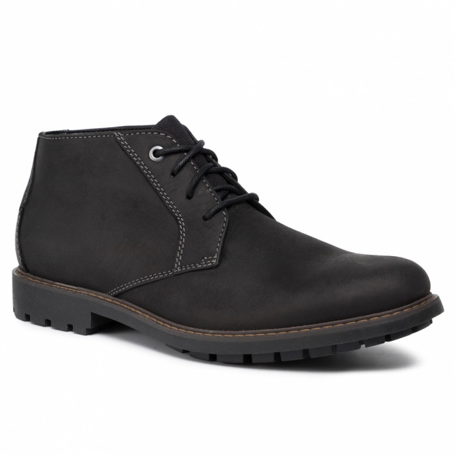 Outdoorová obuv CLARKS - Curington Over 261453637  Black Leather