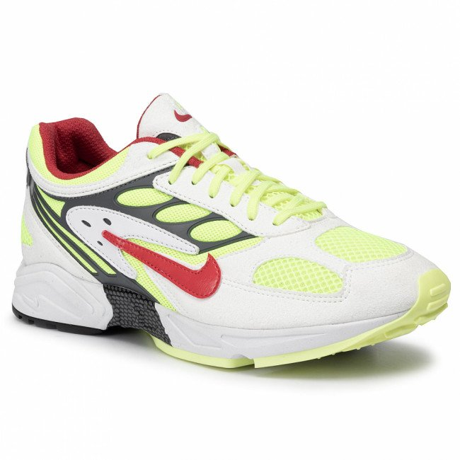 Topánky NIKE - Air Ghost Racer AT5410 100 White/Atom Red/Neon Yellow