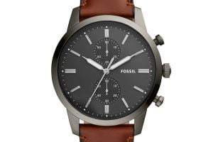 Hodinky FOSSIL - Townsman FS5522 Brown/Silver