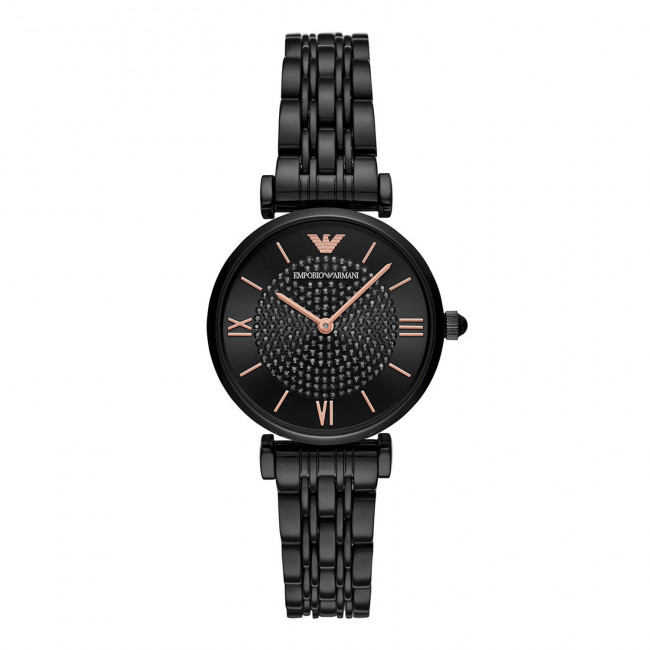 Hodinky EMPORIO ARMANI - Women's Stainless Steel Two-Hand Watch AR11245 Black