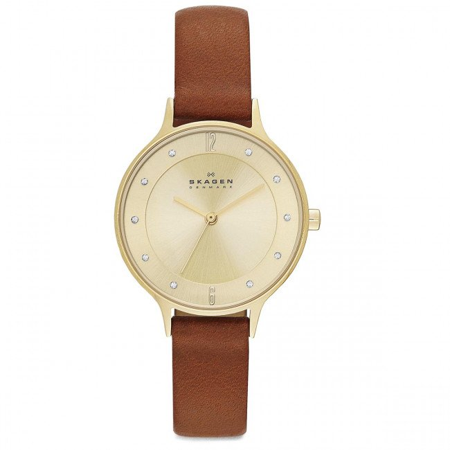 Hodinky SKAGEN - Anita SKW2147  Light Brown/Gold