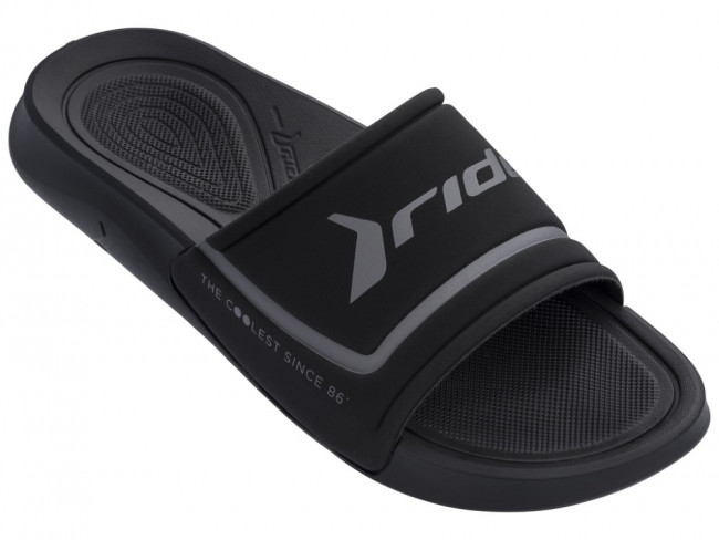 Rider čierne unisex šľapky Infinity Light Slide Ad Black/Dark Grey