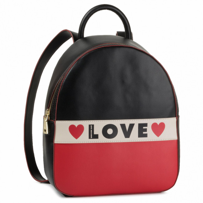 Ruksak LOVE MOSCHINO - JC4229PP08KD100A  Mix Ner/Bia/Ro