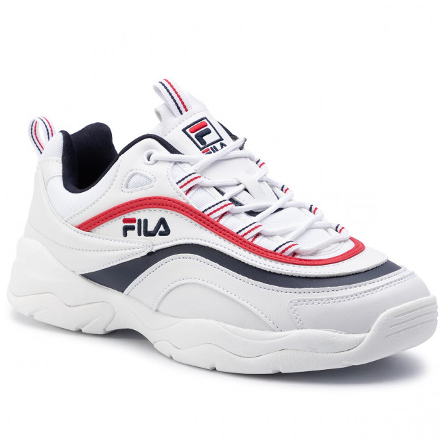 Sneakersy FILA - Ray Low 1010561.150 White/Fila Navy/Fila Red