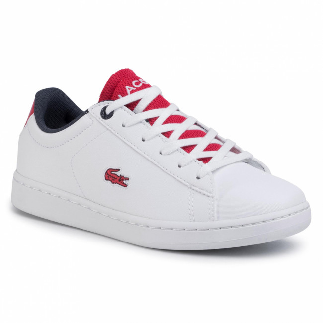 Sneakersy LACOSTE - Carnaby Evo 120 2 Suj 7-39SUJ0001286  Wht/Red