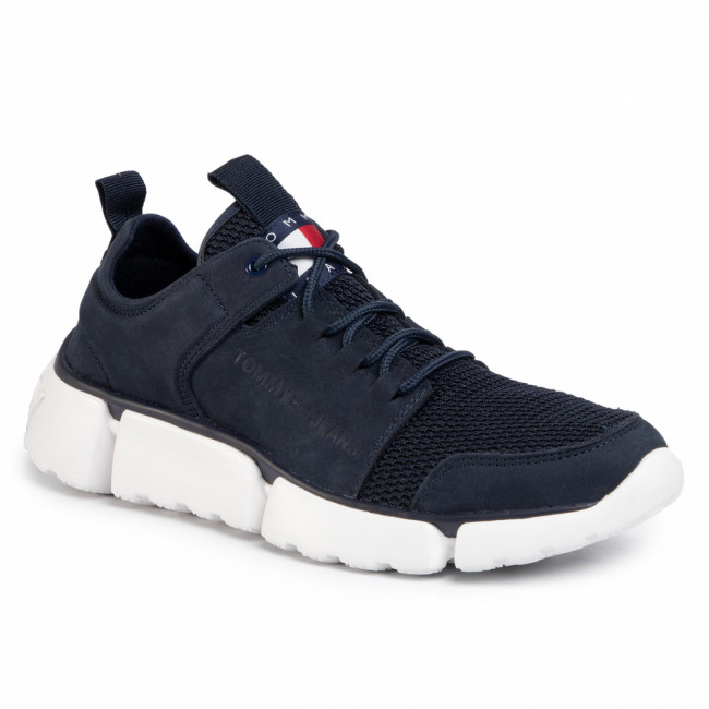 Sneakersy TOMMY JEANS - Chunky Lace Up Shoe EM0EM00424 Twilight Navy C87