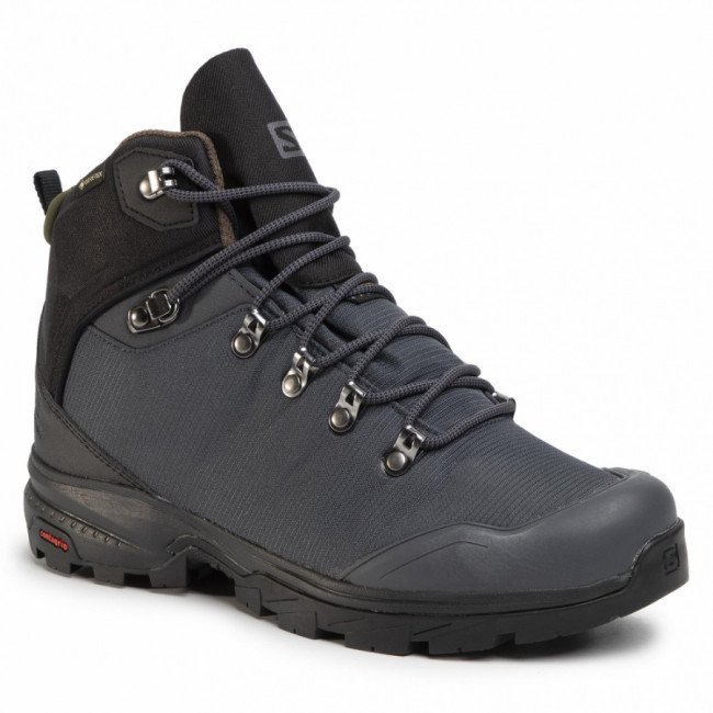 Trekingová obuv SALOMON - Outback 500 Gtx GORE-TEX 406924 27 G0 Ebony/Black/Grape Leaf