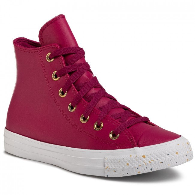 Sneakersy CONVERSE - Ctas Hi 566723C Rose Maroon/Gold/White