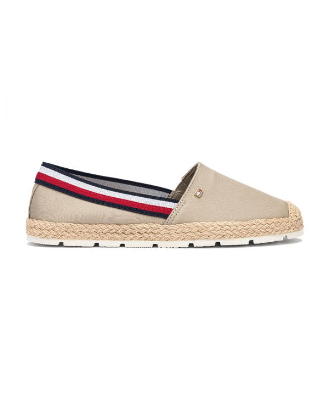 Tommy Hilfiger Basic Tommy Corporate Espadrilky Béžová