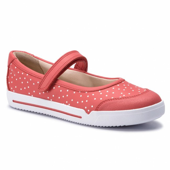 Poltopánky CLARKS - Emery Halo K 261411566 Coral Leather
