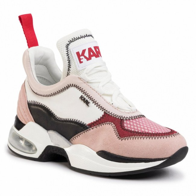 Sneakersy KARL LAGERFELD - KL61738 Pink Mix Textile