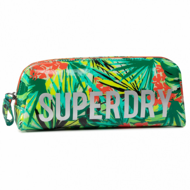 Peračník SUPERDRY - Jelly Pencil Case W9810025A  Green Tropical
