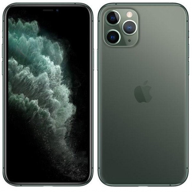 "Mobilný telefón Apple iPhone 11 Pro 512 GB - Midnight Green... Mobilní telefon 5.8"" Super Retina (OLED) 2436 × 1125, procesor A13 Bionic Six-Core 512 GB, RAM 6 GB, Single SIM, Wi-Fi, Bluetooth, LTE (4G)/ 3G, GPS, NFC, iOS 13, oficiální distribuce"