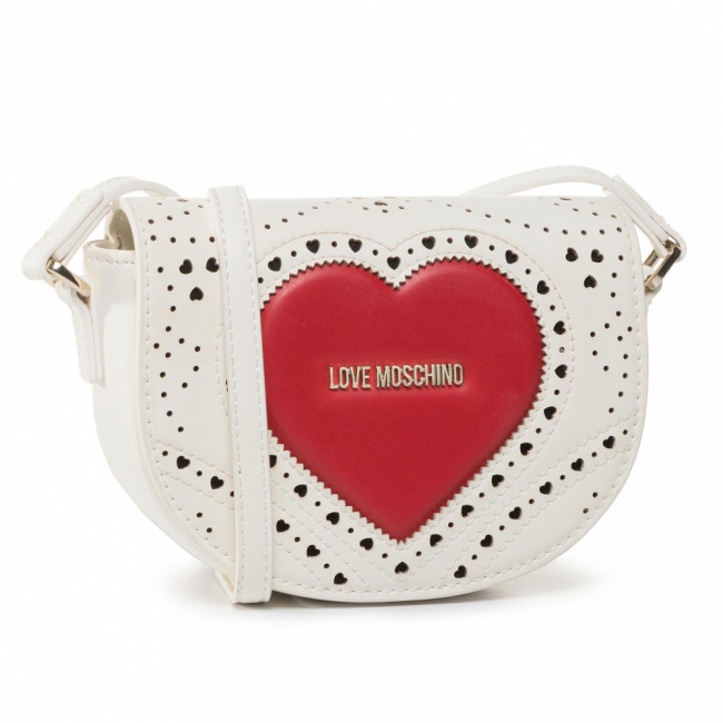 Kabelka LOVE MOSCHINO - JC4217PP0AKC110A  Bianco/Rosso