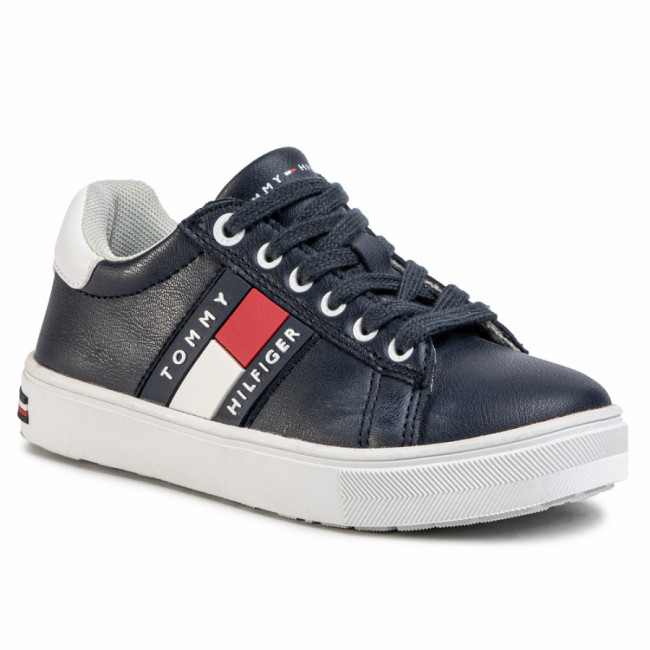 Sneakersy TOMMY HILFIGER - Low Cut Lace-Up Sneaker T3B4-30718-0900 M Blue/White X007
