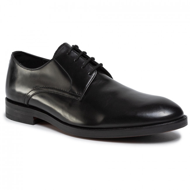 Poltopánky CLARKS - Oliver Lace 261435807 Black Leather