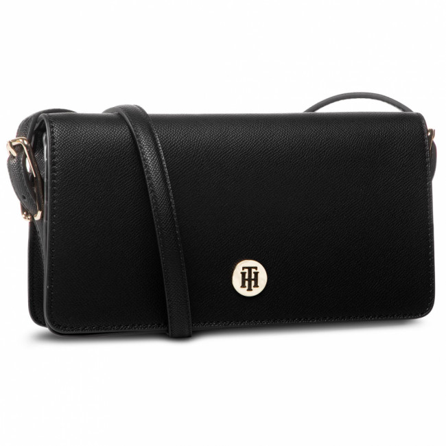 Kabelka TOMMY HILFIGER - Honey Flap Crossover AW0AW07943 BLK