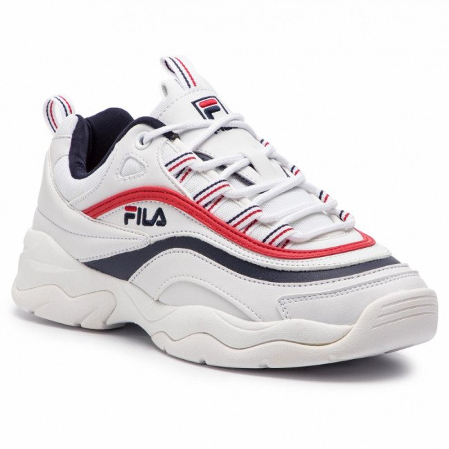 Sneakersy FILA - Ray Low Wmn 1010562.150 White/Fila Navy/Fila Red