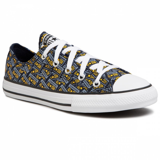 Tramky CONVERSE - Ctas Ox 667090C Obsidian/Blue Slate/Amarillo