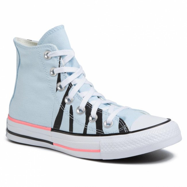Tramky CONVERSE - Ctas Hi 167662C Agate Blue/Electric Blush