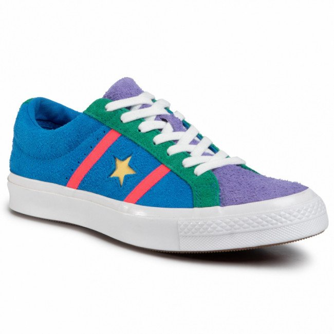 Tenisky CONVERSE - One Star Academy Ox 164392C Totally Blue/Racer Pink/White