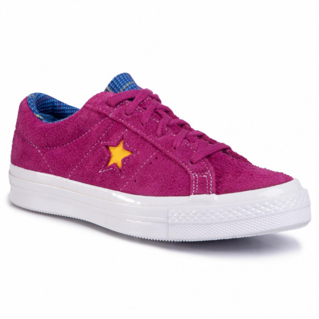 Tenisky CONVERSE - One Star Ox 166846C Rose Maroon/Rush Blue/Amarillo