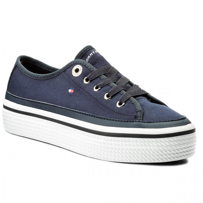 Tenisky TOMMY HILFIGER - Corporate Flatform Sneaker FW0FW02456 Tommy Navy 406