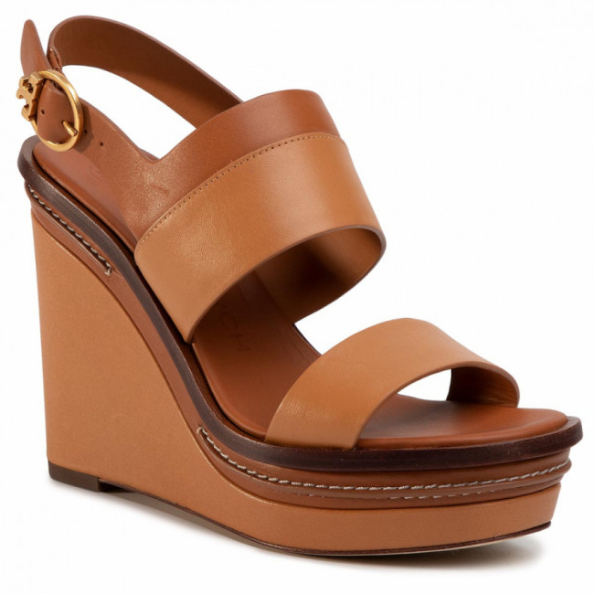 Sandále TORY BURCH - Selby 120Mm Wedge 63549 Elba Camello/Ambra 922