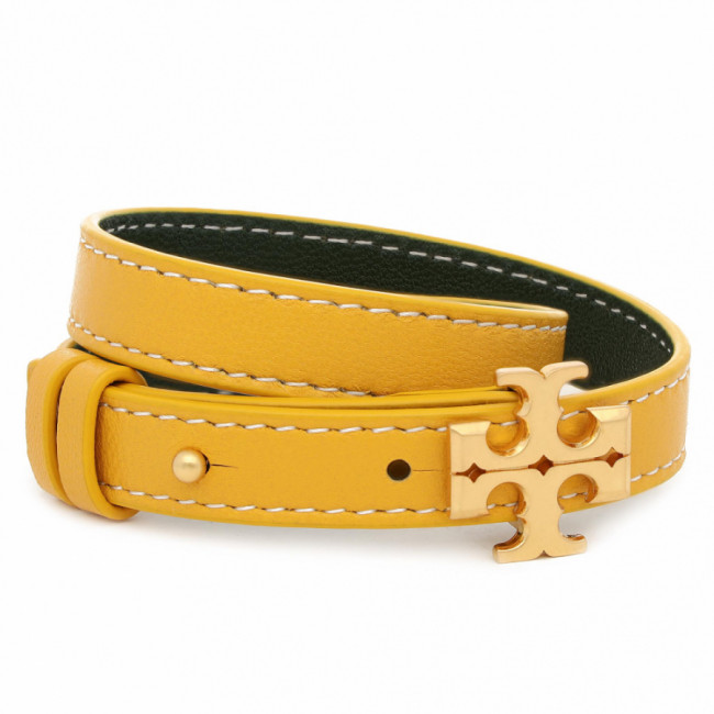 Náramok TORY BURCH - Kira Double-Wrap Bracelet 65163 Rolled Brass/Golden Crest 201