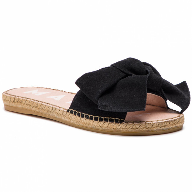 Espadrilky MANEBI - Sandals With Bow K 1.0 J0 Black Suede