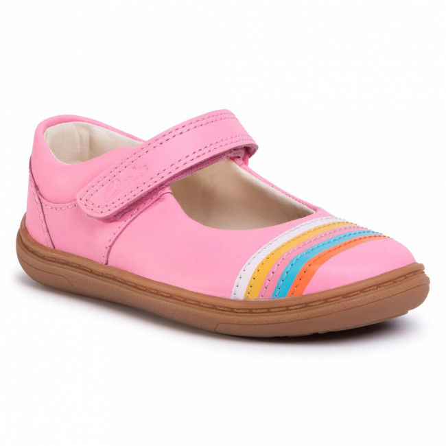 Poltopánky CLARKS - Flash Rain T 261503906 Bright Pink Leather