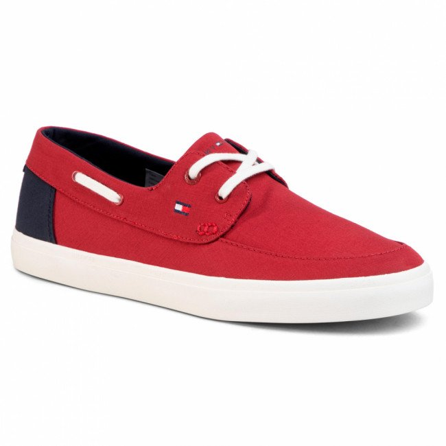 Tenisky TOMMY HILFIGER - Seasonal Core Boat Shoe Sneaker FM0FM02760 Regatta Red XIT