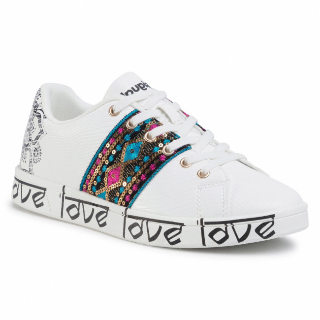 Sneakersy DESIGUAL - Cosmic Exotic Indian 20SSKP26 1000