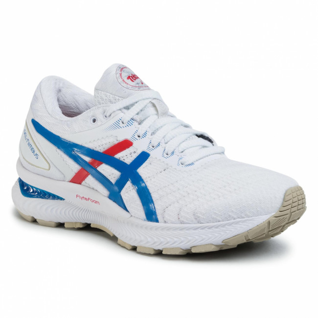 Topánky ASICS - Gel-Nimbus 22 1012A665 White/Electric Blue 100