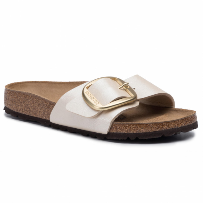 Šľapky BIRKENSTOCK - Madrid Big Buckle 1015279 Graceful Pearl White