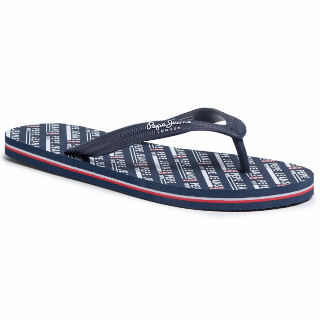 Žabky PEPE JEANS - Swimming All Over PMS70090 Navy 595