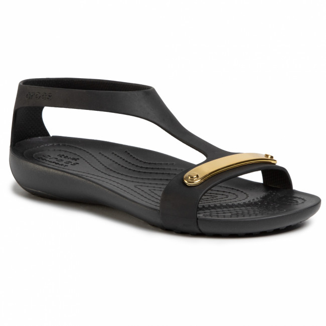 Sandále CROCS - Serena Metallic Bar Sdl W 206421  Gold/Black