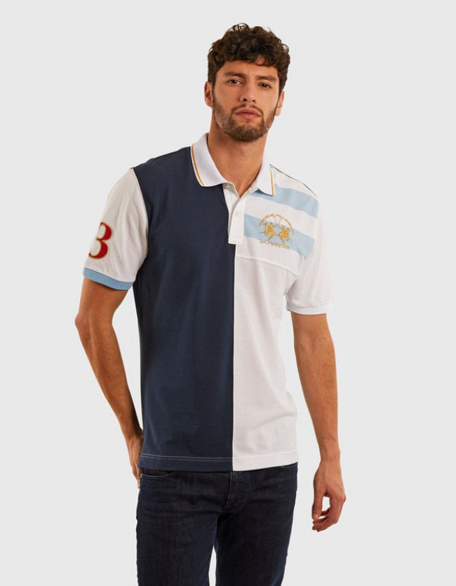 Polokošeľa La Martina Man Polo S/S Piquet No Stretch - Modrá - Xxxl