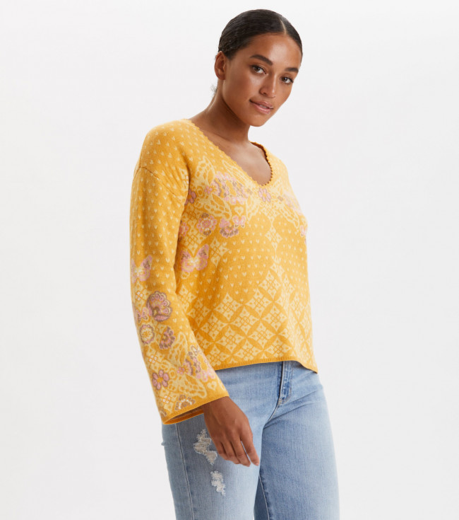 Sveter Odd Molly Entanglement Sweater - Žltá