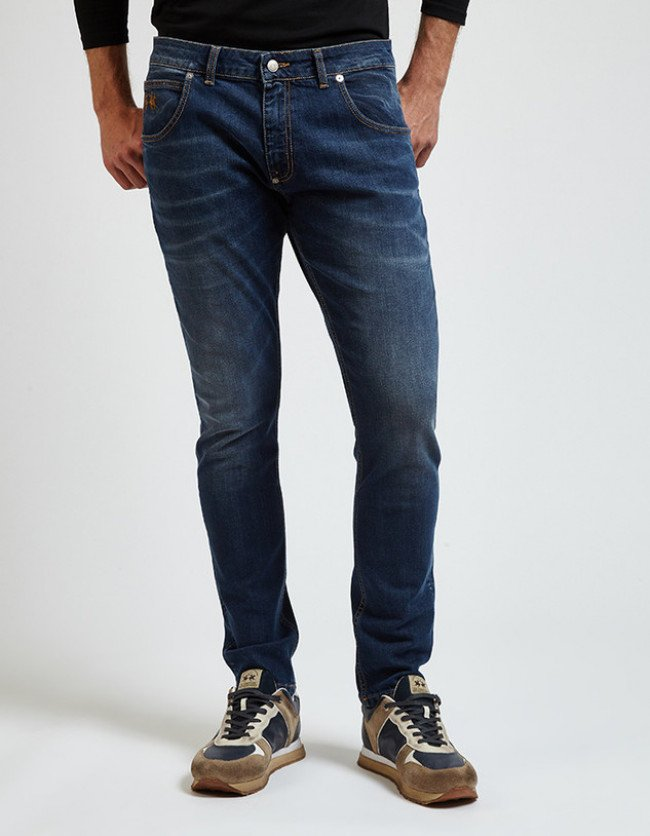 Džínsy La Martina Man Denim 5 Pkt Denim - Modrá
