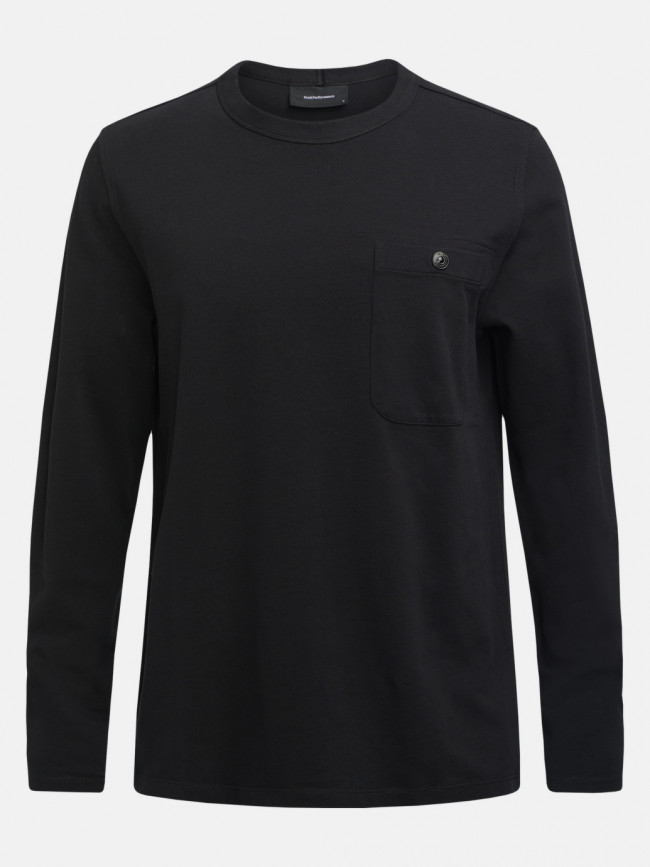 Tričko Peak Performance M Urban Pocket Ls - Čierna
