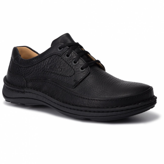 Poltopánky CLARKS - Nature Three 203390087  Black Leather